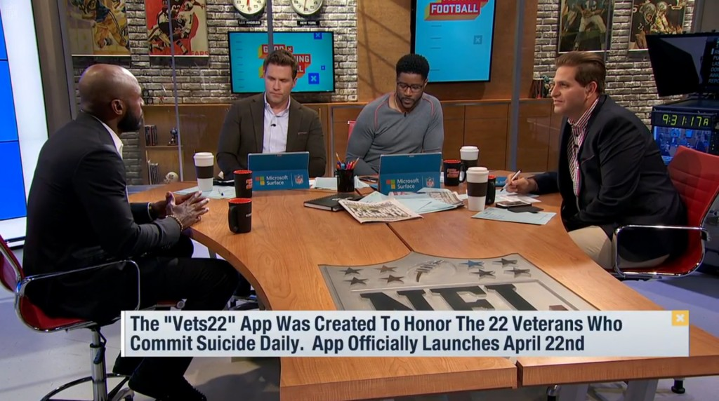 Drayton Florence NFL Network Good Morning Football 2017 Tech From Vets
