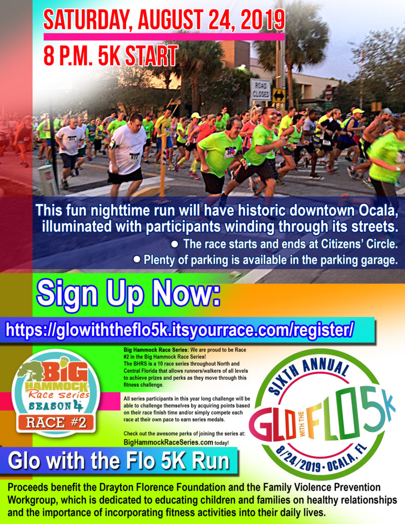 6th Annual Glo With The Flo 5k Glow Run   Drayton Florence